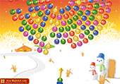 Boules de Noël qui tournent