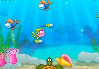 Envoie des bulles sur les poissons