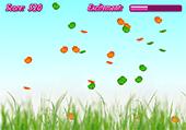 Papillons de couleur à attraper