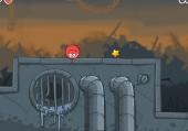 Parcours d'une balle rouge