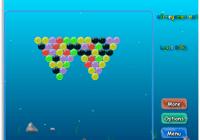 Jeu de boule sous la mer