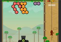 Jeux de boule: empêche le singe d'arriver aux fruits