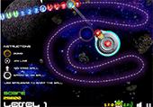 Boules dans l'espace explosives